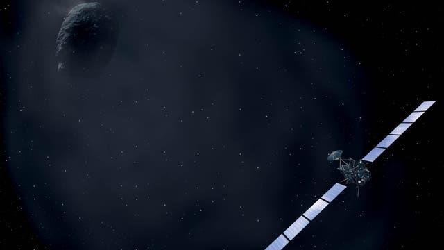 Die Kometensonde Rosetta im Umfeld des Kometen 67P