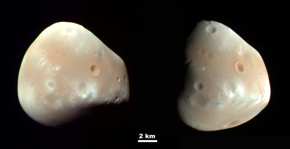 Der Marsmond Deimos, porträtiert vom Mars Reconnaissance Orbiter