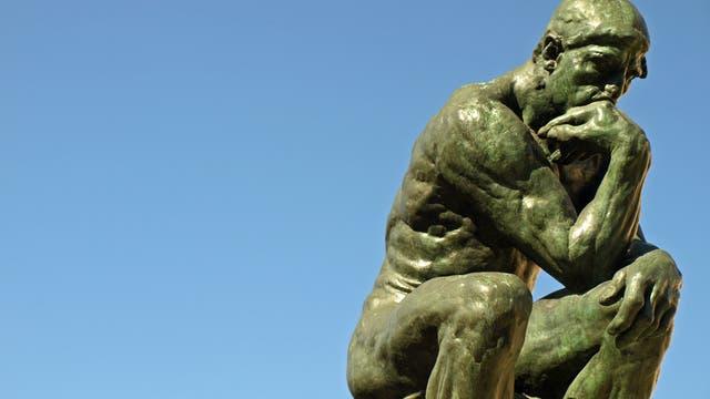 Auguste Rodins Plastik »Der Denker«