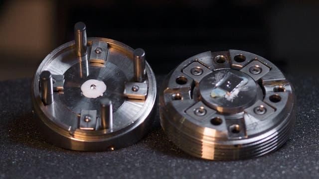 Geöffnete Diamantstempelzelle