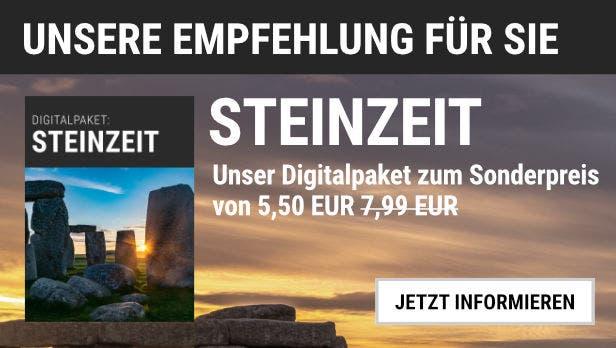 """Unsere Empfehlung: Das Digitalpaket """"Steinzeit"""" für 5,50 EUR statt 7,99 EUR"""