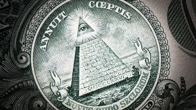Auge auf Dollar-Schein