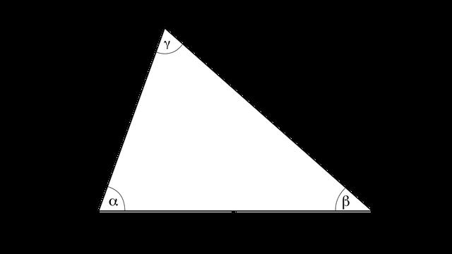 Dreieck mit Winkeln