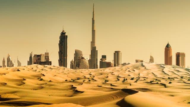 Schon heute ist es in Dubai oft unerträglich heiß - ohne dass man in die Wüste fahren muss