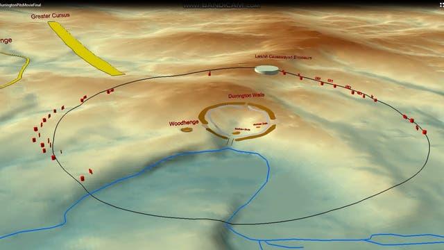 Wissenschaftler haben in der Nähe des steinzeitlichen Monuments Stonehenge in England eine weitere kreisförmige Anlage entdeckt.