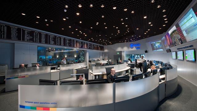 Blick in den Hauptkontrollraum des ESOC Darmstadt