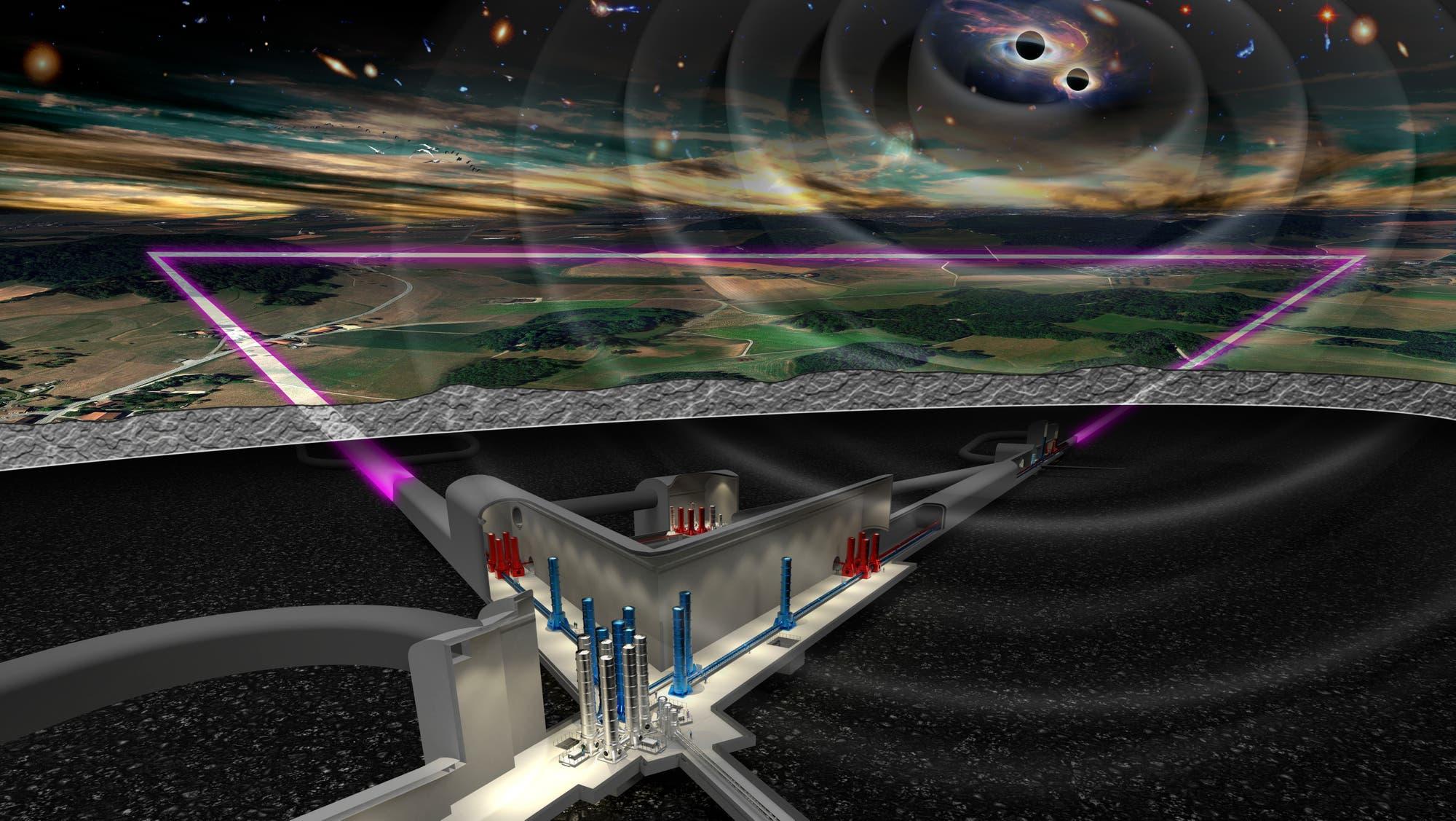 Einstein-Teleskop (künstlerische Darstellung)