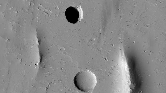 Einsturzkrater auf dem Mars