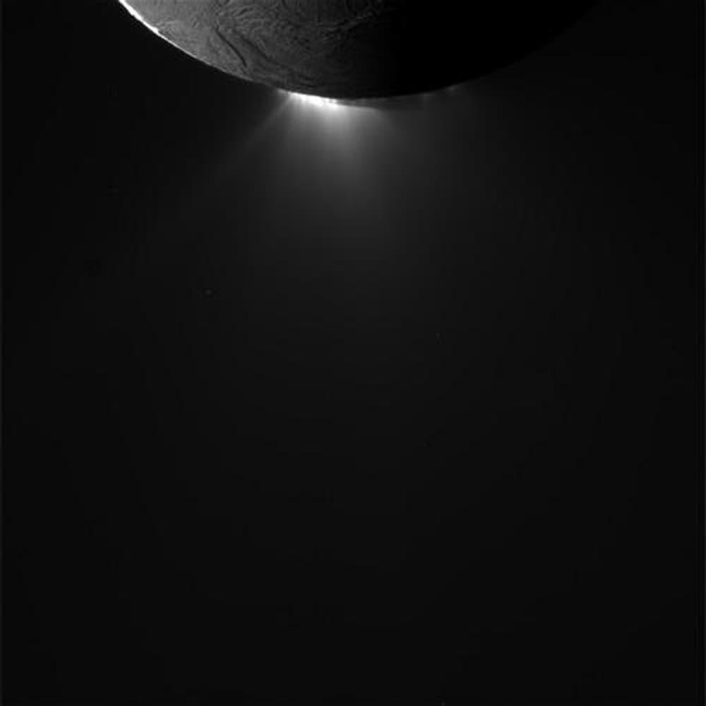 Die Wasserfontänen von Enceladus