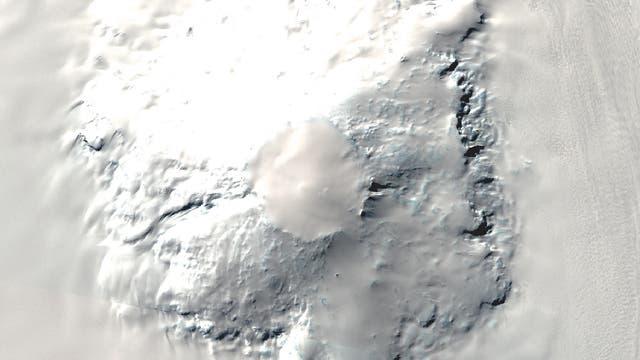 Satellitenaufnahme des Mount Takahe