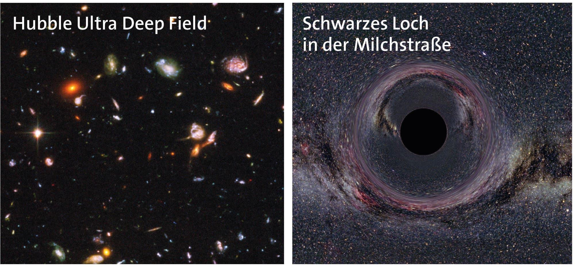 Universum und Schwarzes Loch