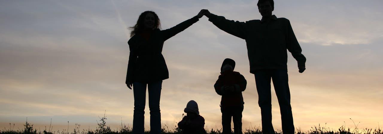 Familien-Silhouette