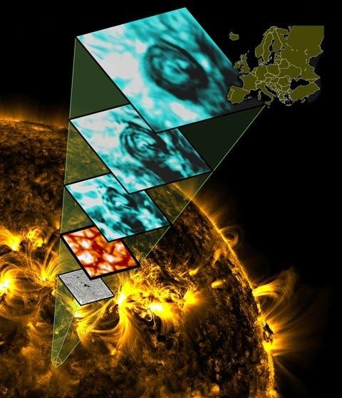 Magnetischer Tornado in der Sonnenatmosphäre