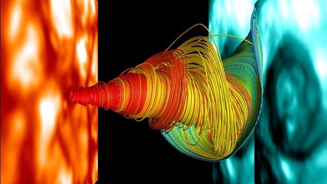 Simulation des Sonnenplasmas