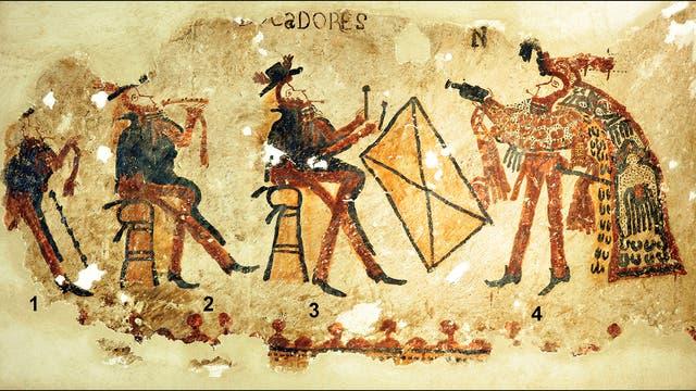 Maya-Wandgemälde aus der Kolonialzeit