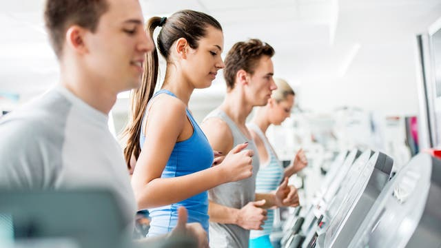 Fitness auf dem Laufband