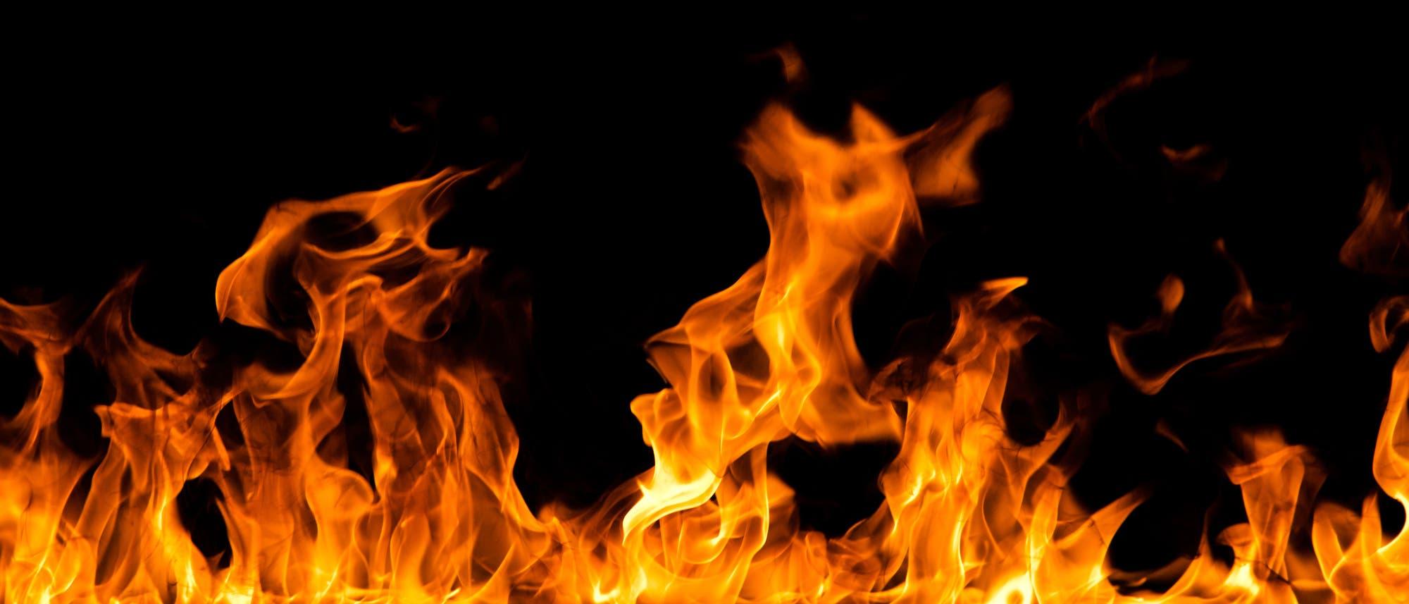 Brennendes Gas