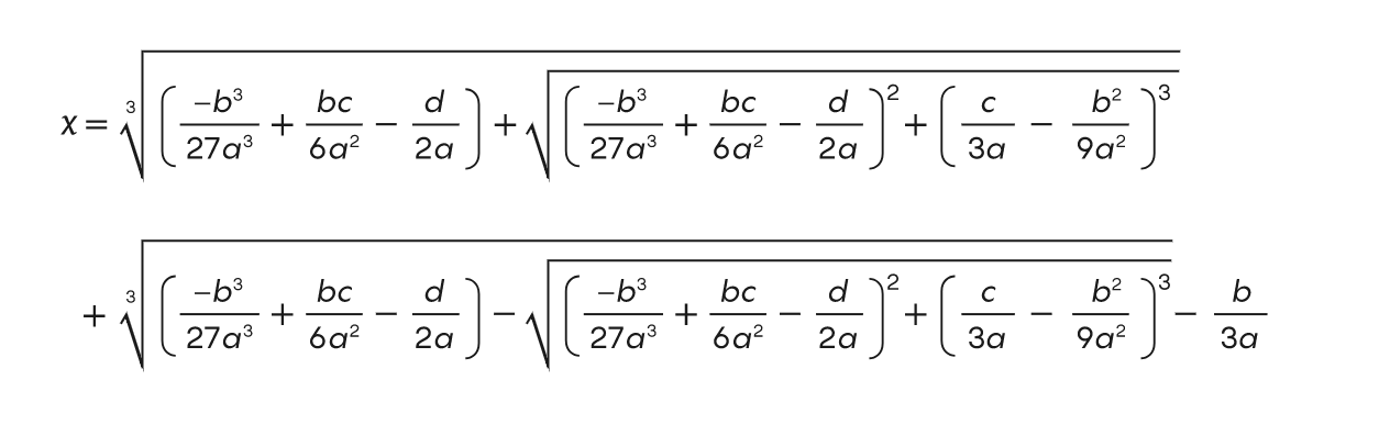 Formel für Nullstellen dritten Grades