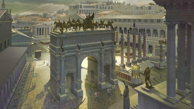 Blick auf das Forum Romanum von Westen