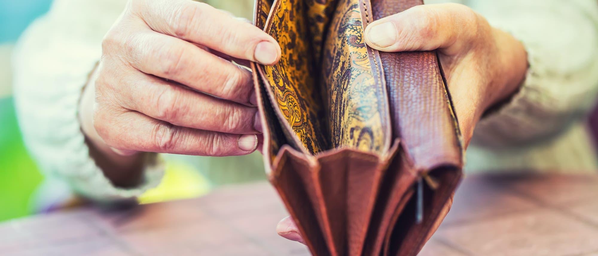 Brieftasche ohne Geld