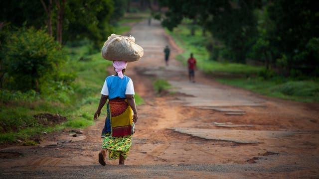 Frau in Afrika