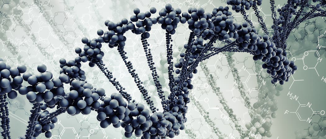 DNA-Strang auf Molekülebene