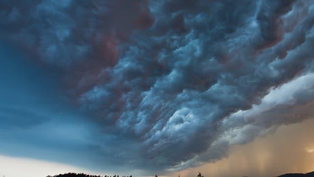 Gewitterwolken über Deutschland