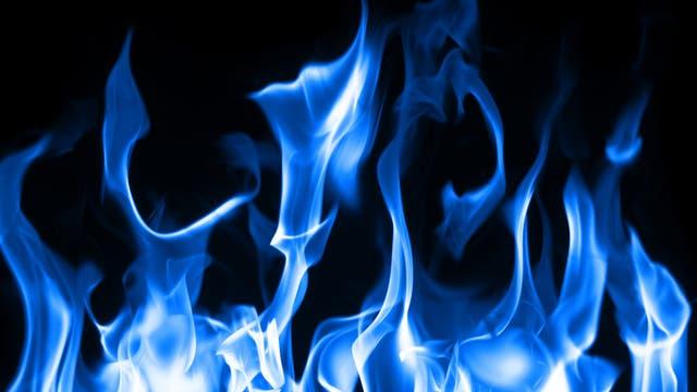 Brennendes Erdgas