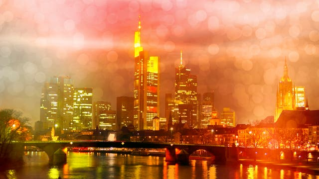 Frankfurt im Regen