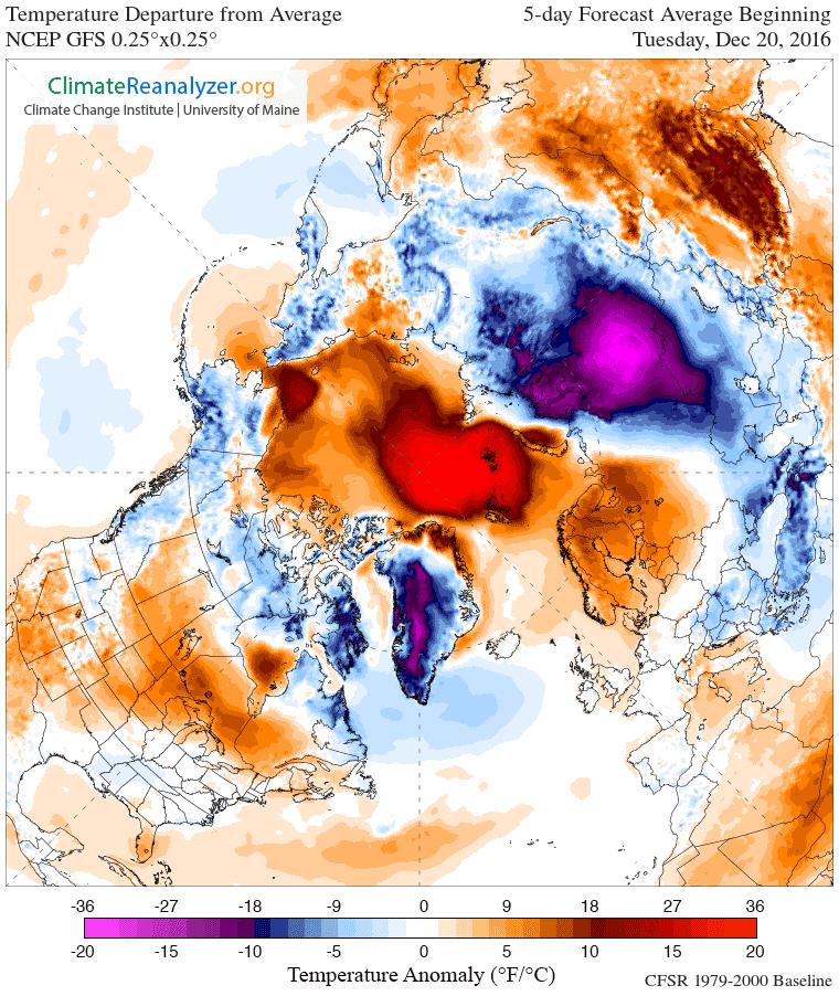 Wärmeblase über der Arktis