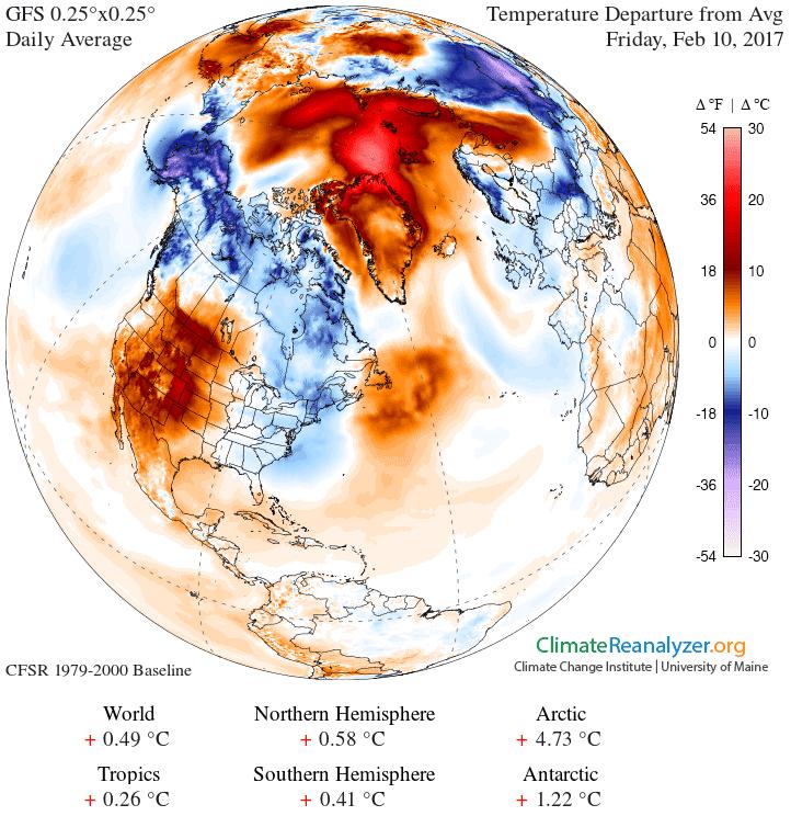Die Arktis ist zu warm