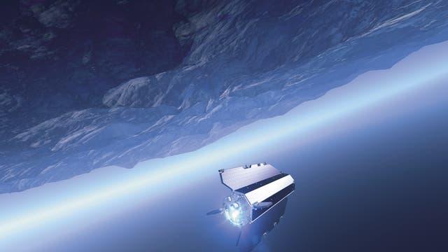 GOCE-Satellit im All