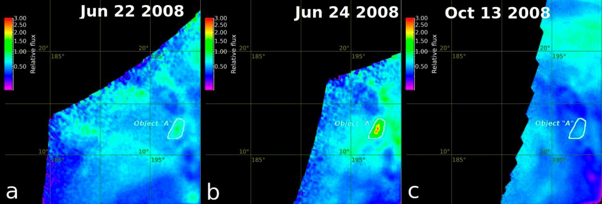 """Die thermische Anomalie """"Object A"""" in Ganiki Chasma"""