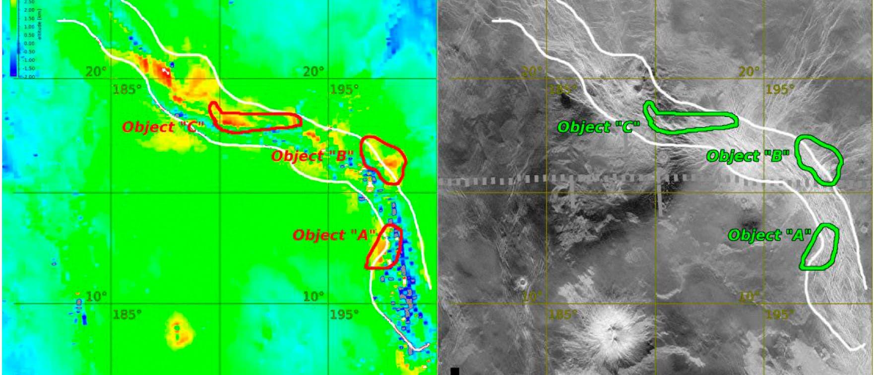 Ganiki Chasma auf Venus