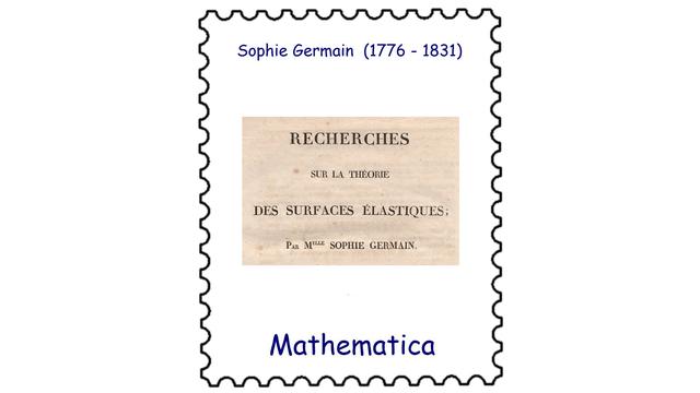Sophie Germain (1776 – 1831)