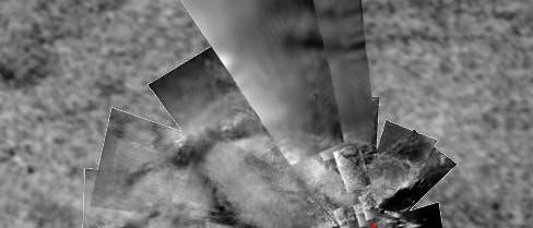 Das Landegebiet von Hugens auf dem Saturnmond Titan