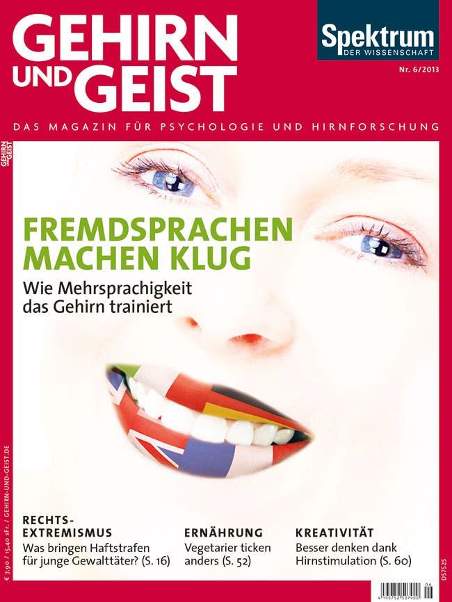 """Aus Gehirn und Geist 6/2013 <br><a href=""""https://www.spektrum.de/artikel/1065440"""" target=""""_blank"""">Kostenloses Probeheft</a>"""