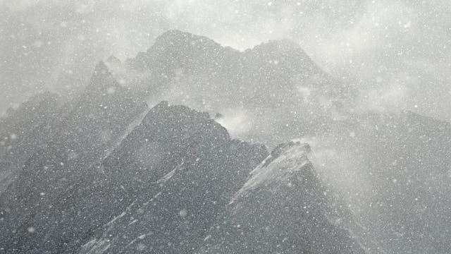 Schneesturm in den Alpen