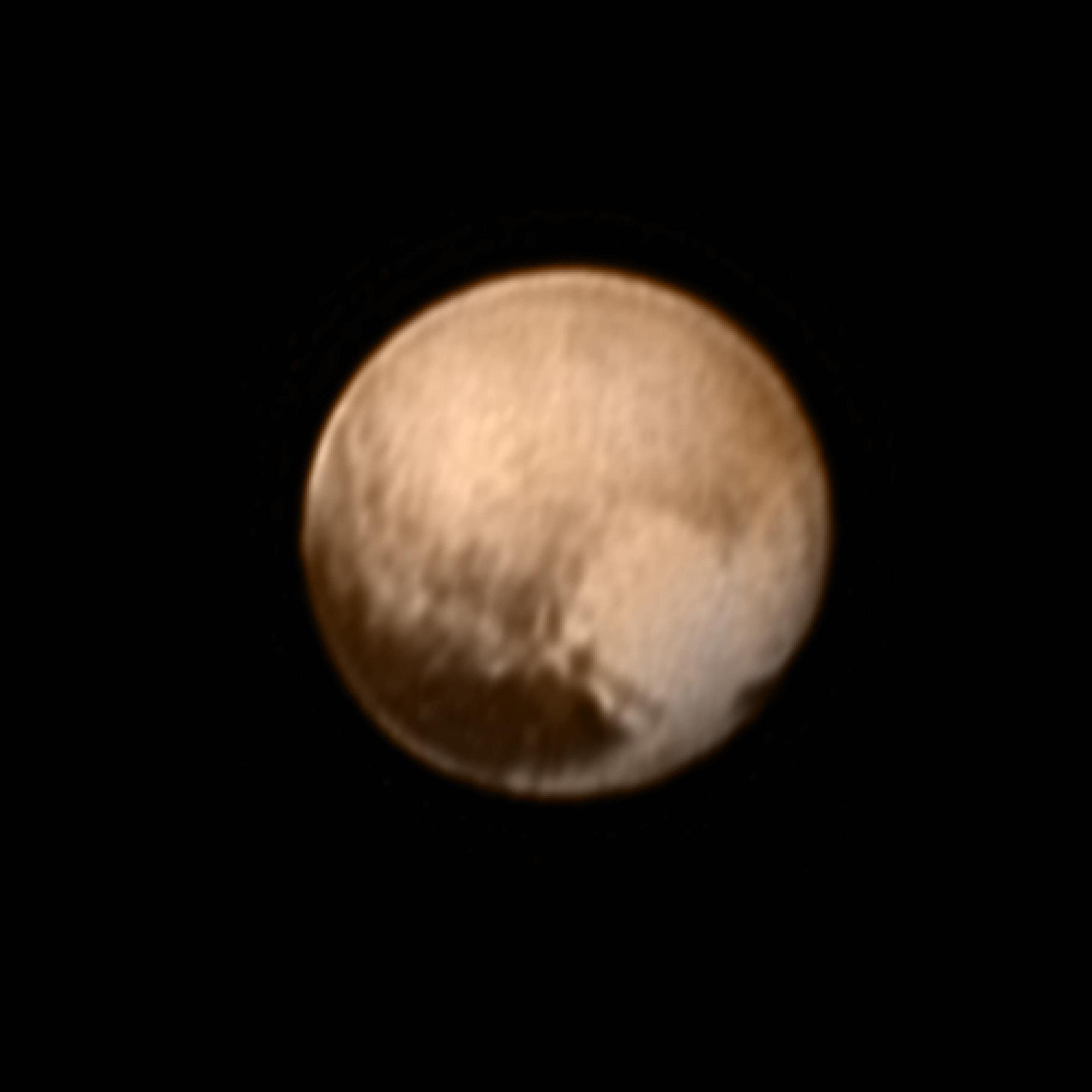 Pluto mit Herz (Farbaufnahme)