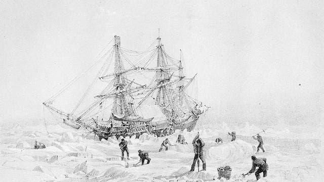 HMS Terror im Packeis