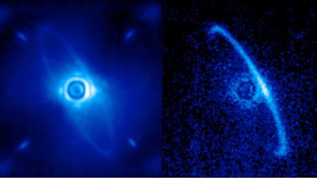Der Staubring um den Stern HR 4796A