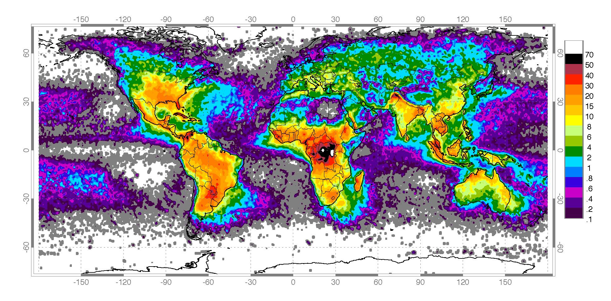 Weltblitzkarte