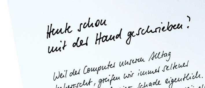 Heute schon mit der Hand geschrieben?