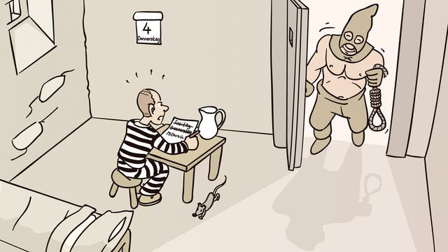 Hinrichtung mit Überraschung