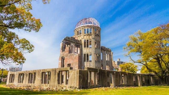 Ruine der Industrie- und Handelskammer in Hiroshima - auch Atombombenkuppel genannt