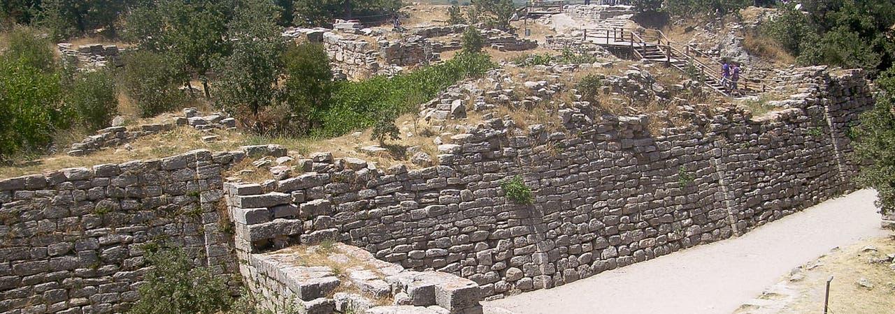 Mauern von Troja, Hisarlik, Türkei