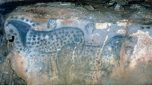 Steinzeitliche Höhlenmalerei