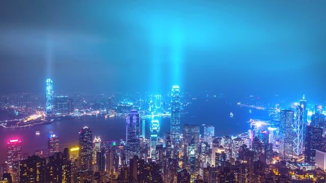 Hongkong wird von Millionen Lichtern verschmutzt