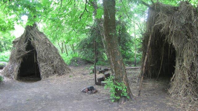 Strohhütte