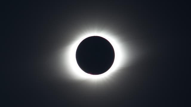Korona der Sonnenfinsternis